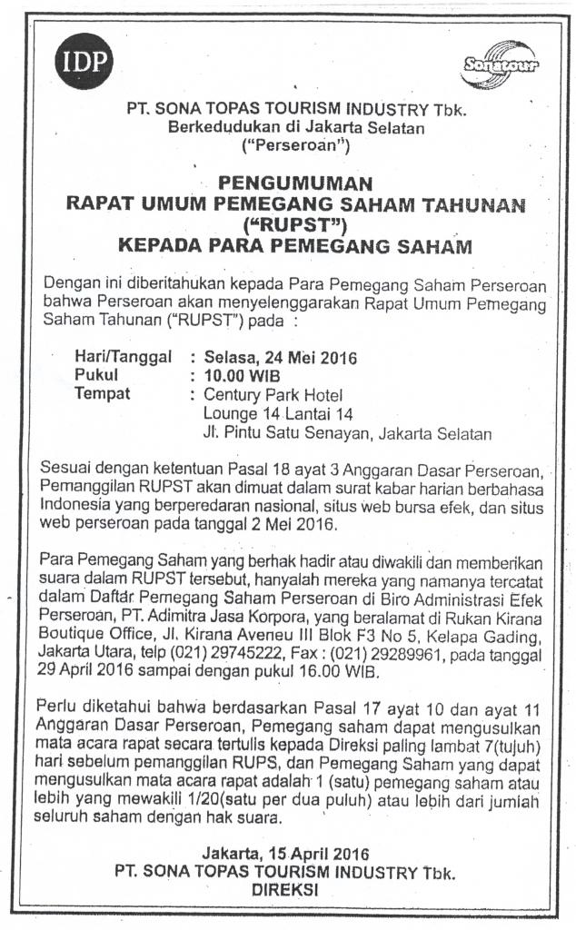IKLAN PEMBERITAHUAN RUPST 24 MEI 2016